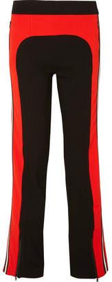 P.E Nation Flash Hit Striped Stretch-ponte Track Pants