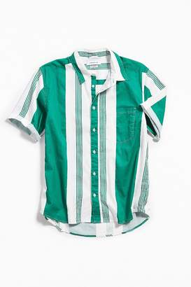 Urban Outfitters Striped Short Sleeve Button-Down Shirt