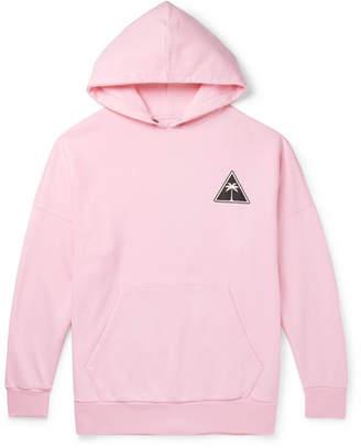 Palm Angels Oversized Logo-Print Fleece-Back Cotton-Jersey Hoodie