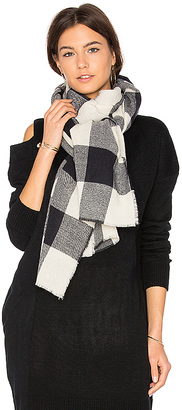 Hat Attack Buffalo Check Scarf in Blue. $60 thestylecure.com