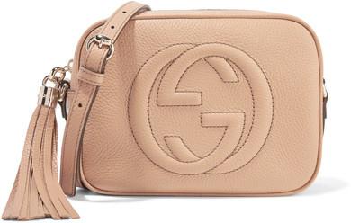 Gucci - Soho Disco Textured-leather Shoulder Bag - Beige