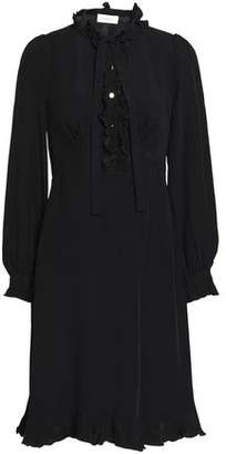 Zimmermann Ruffle-Trimmed Crepe Shirt Dress