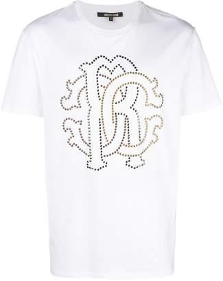 Roberto Cavalli studded logo T-shirt