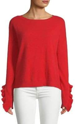 Saks Fifth Avenue Ruffle-Sleeve Cashmere Sweater