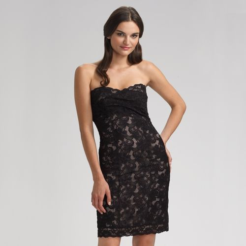 Nicole Miller Strapless Lace Dress