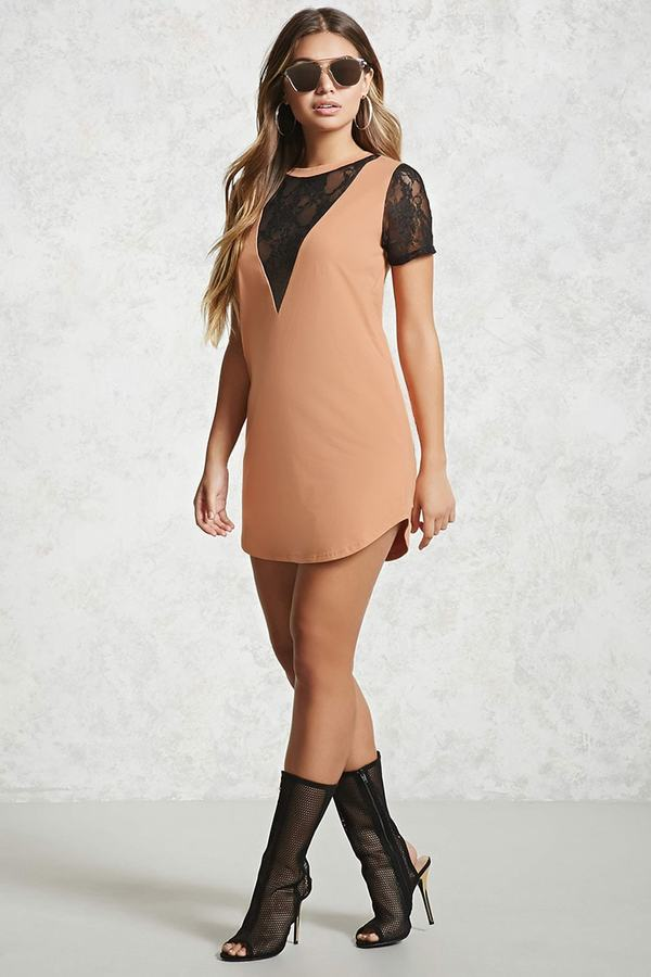 Forever 21 Lace T-Shirt Dress