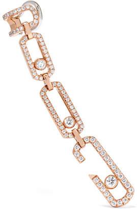 Möve Messika Addiction 18-karat Rose Gold Diamond Earring