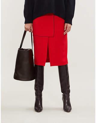 Sportmax High-waist stretch-jersey pencil skirt