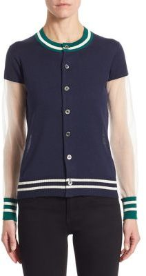 Junya Watanabe Striped Knit Cardigan $758 thestylecure.com