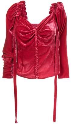 Magda Butrym Leticia draped velvet top