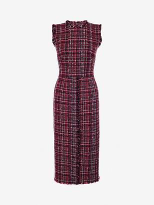 Alexander McQueen Tweed Midi Dress