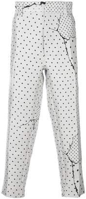 Haider Ackermann polka dot print trousers