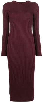 Courreges rib knit fitted dress