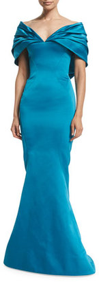 Zac Posen Off-The-Shoulder Mermaid Gown, Topaz $5,990 thestylecure.com
