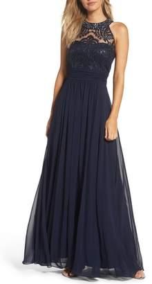 Eliza J Lace Bodice Gown