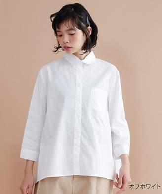 メルロー 胸ポケットコットンシャツ