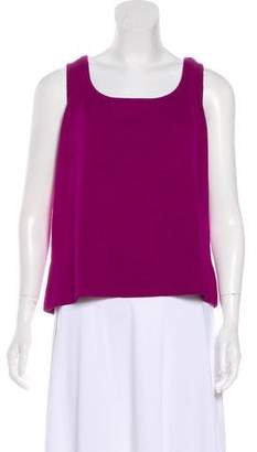 St. John Sleeveless Wool Top