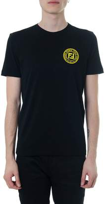 Fendi Black T-shirt With Logo Fendy Roma Italy 1925