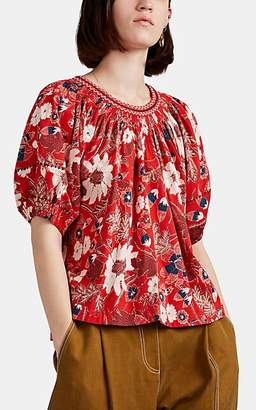 Ulla Johnson Women's Celie Floral Top - Red