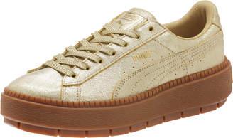 Basket Platform Trace Gold Women's Sneakers