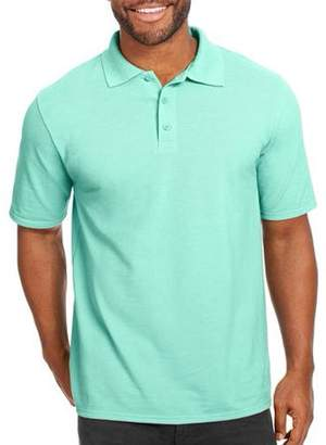 Hanes Big Men's X-Temp with Fresh IQ Short Sleeve Pique Polo Shirt