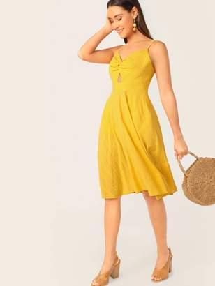 Shein Twist Front Peekaboo Pocket Side Cami Dress