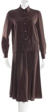 Michael Kors Silk Blouse and Skirt Set