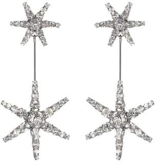Jennifer Behr Starburst crystal earrings