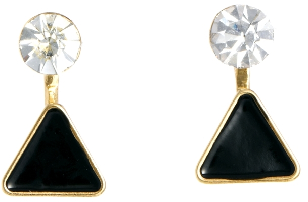 Asos Mini Swing Triangle Earrings