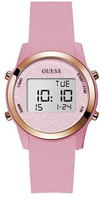GUESS Women's Stainless Steel Silicone Digital Watch