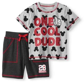 Mickey Mouse Toddler Boy T-shirt & French Terry Shorts 2pc Outfit Set