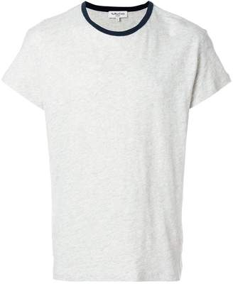 YMC contrast neck T-shirt