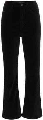 3x1 High Waisted Flared Cropped Velvet Jeans