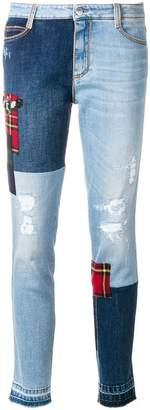 Ermanno Scervino slim patchwork jeans