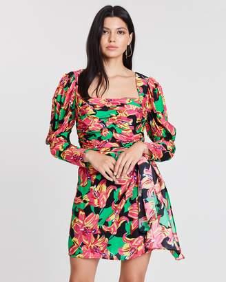 ICONIC EXCLUSIVE - Havana Long Sleeve Mini Dress