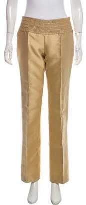 Andrew Gn Silk Straight-Leg Pants
