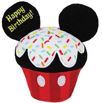 "Kids Preferred Disney Baby 4.5"" Plush HAPPY BIRTHDAY CUPCAKE, MICKEY MOUSE"
