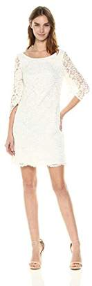 Nanette Lepore Nanette Women's L/s Tulip Sleeve Lace Shift Dress W/Scoop Back