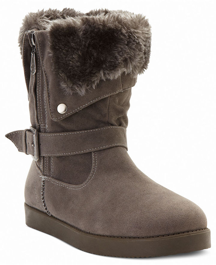 G by GUESS Women's Shoes, Amaze Faux-Fur Cold Weather Boots