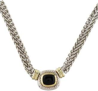 David Yurman Onyx Albion Pendant Necklace