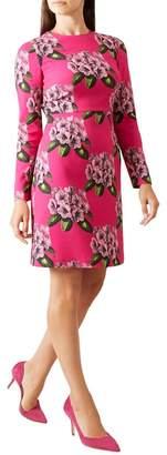 Hobbs Pink Floral Print 'Bea' Knee Length Pencil Dress