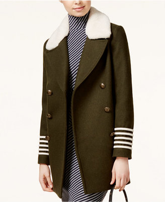 TOMMYXGIGI Shearling-Collar Military Peacoat $495 thestylecure.com
