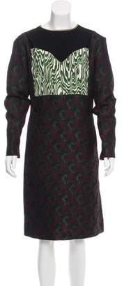 Dries Van Noten Patchwork Jacquard Dress w/ Tags