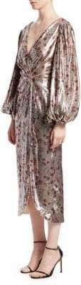 Johanna Ortiz Alfonsina Sequin Wrap-Style Dress