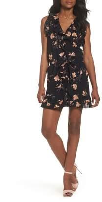 Paige Denisa Floral Tie Cuff Minidress