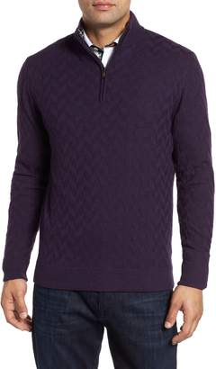 Robert Graham Rowley Classic Fit Quarter Zip Sweater