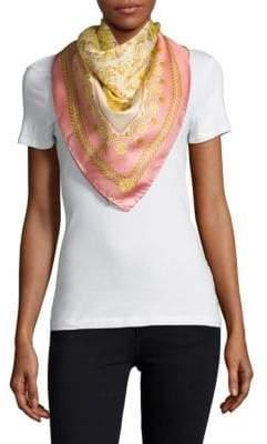 Versace Carre Printed Silk Scarf