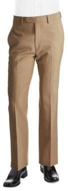 Lauren Ralph Lauren Classic Fit Mid-Weight Flat-Front Wool Trouser Pants