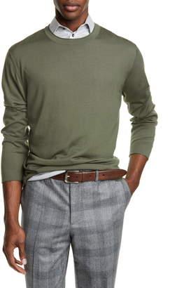 Brunello Cucinelli Fine Gauge Wool & Cashmere Crewneck Sweater