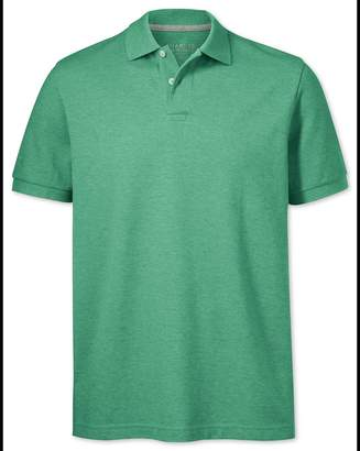 Charles Tyrwhitt Light Green Pique Cotton Polo Size XS
